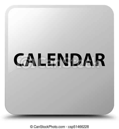 Calendar white square button - csp51466228