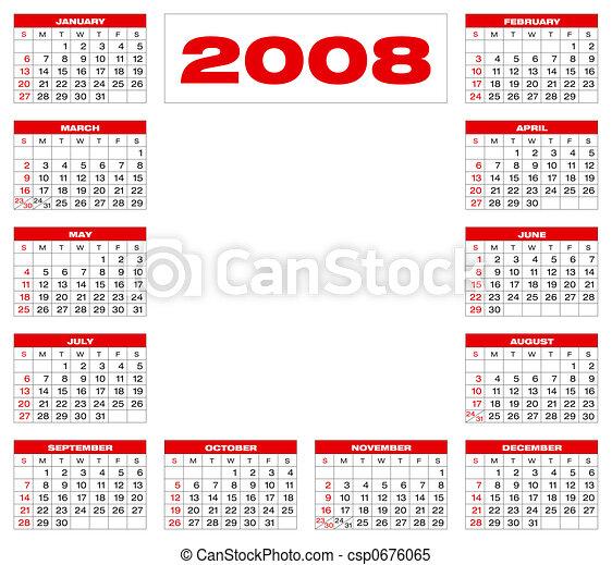Calendar2008_B4 - csp0676065