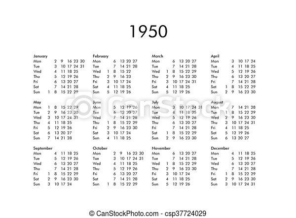 Calendario 1950.Calendario 1950 Anno