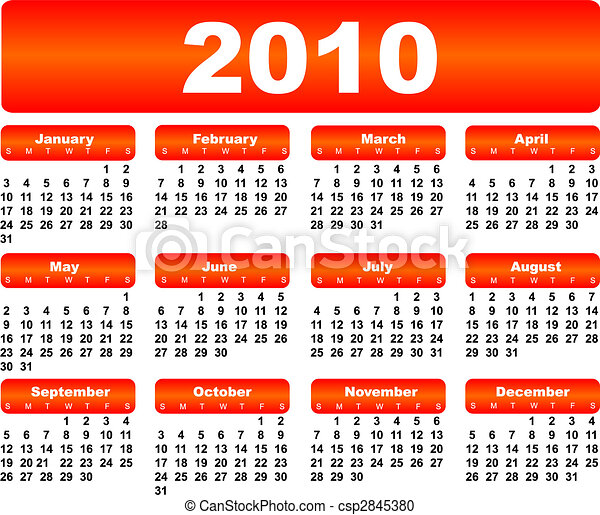 Calendario para 2010 - csp2845380