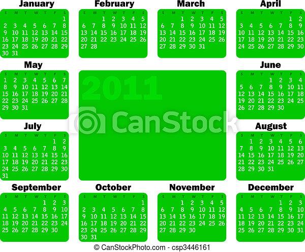 Calendario para 2011 - csp3446161
