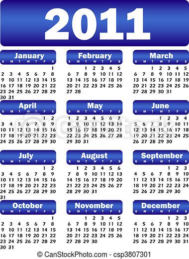 Calendario para 2011 - csp3807301