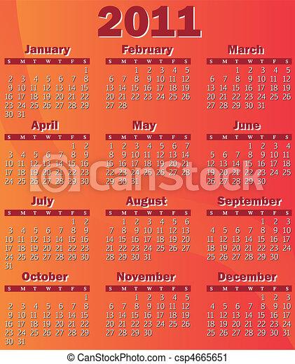 Calendario para 2011 - csp4665651