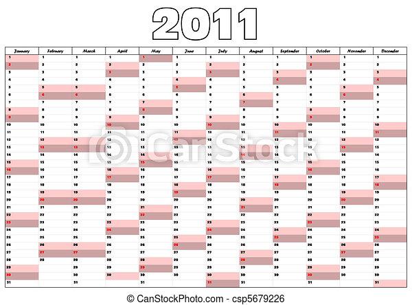 Calendario para 2011 - csp5679226
