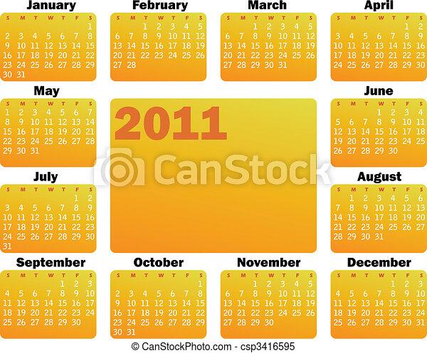 Calendario para 2011 - csp3416595