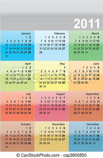 Calendario para 2011 - csp3800850