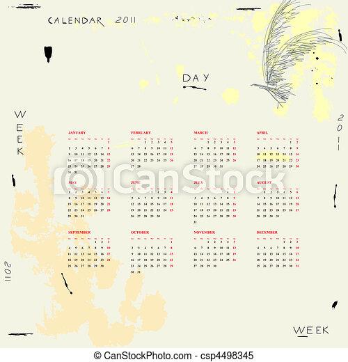Calendario para 2011 - csp4498345