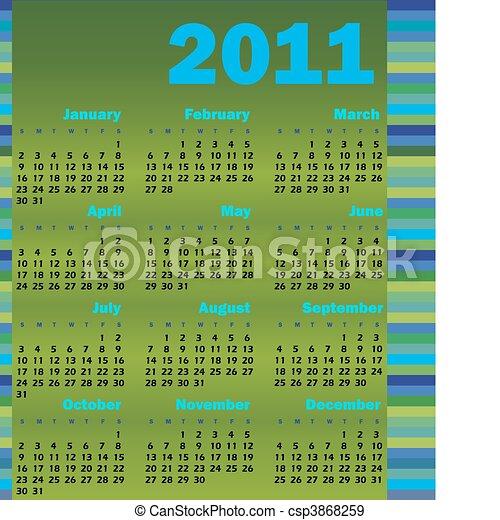 Calendario para 2011 - csp3868259