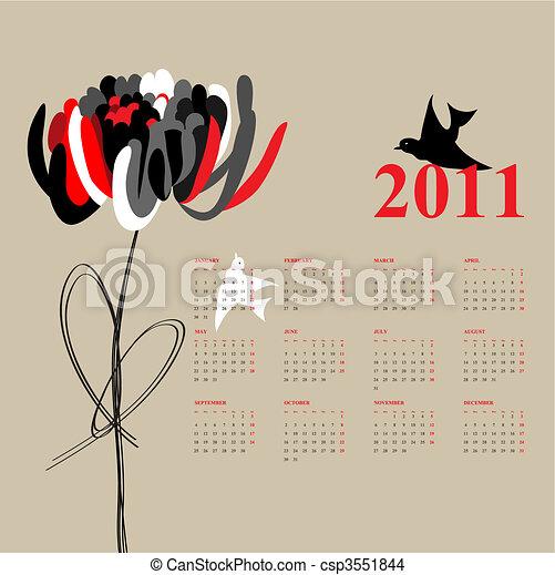 Calendario para 2011 - csp3551844