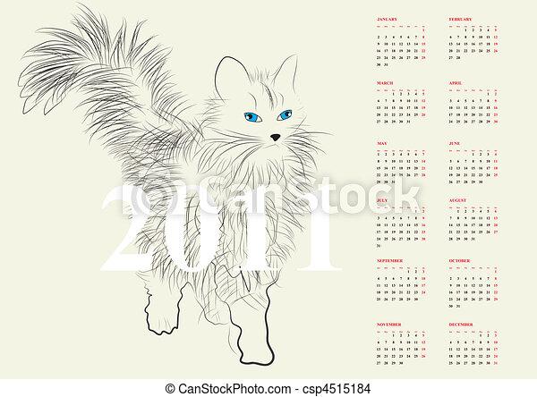 Calendario para 2011 - csp4515184
