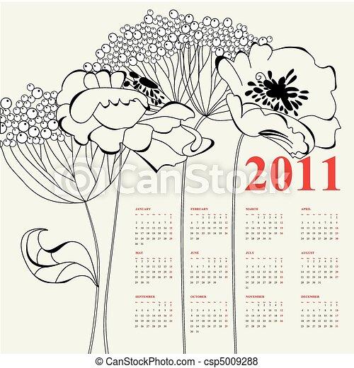 Calendario para 2011 - csp5009288