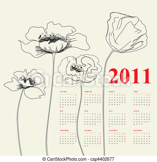 Calendario para 2011 - csp4402677