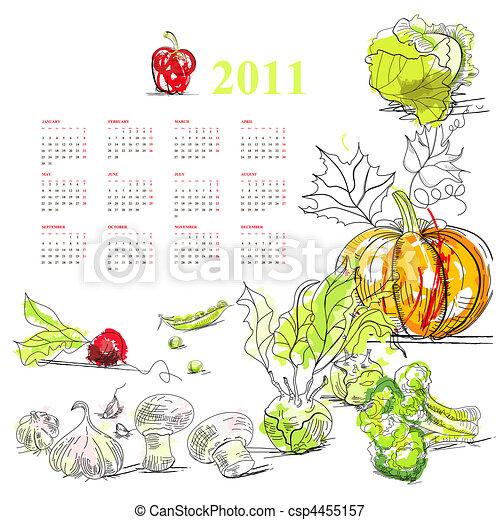 Calendario para 2011 - csp4455157
