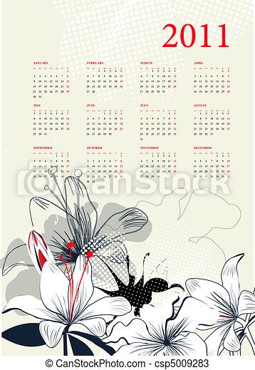Calendario para 2011 - csp5009283
