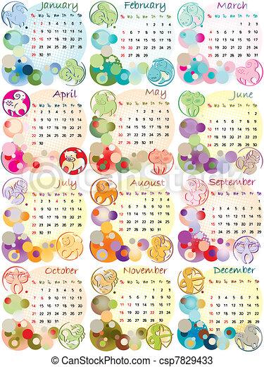 Calendario Zodiaco.Calendario 2012 Zodiaco Firma