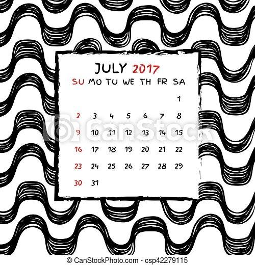 Calendario 2017 - csp42279115