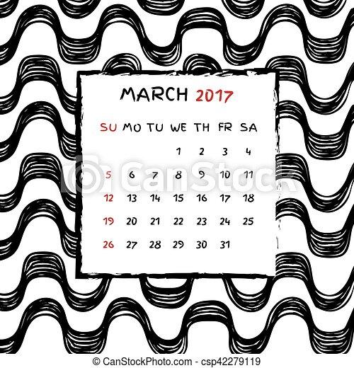 Calendario 2017 - csp42279119