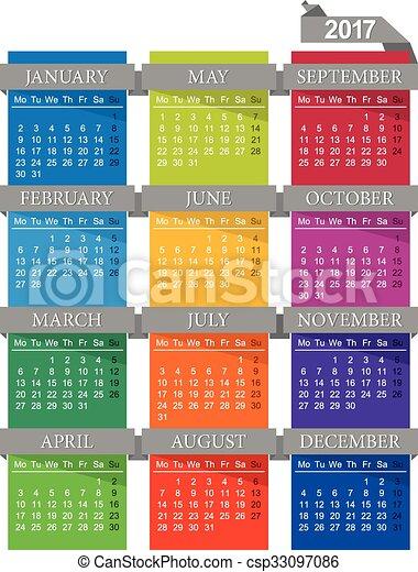 Calendario 2017 - csp33097086
