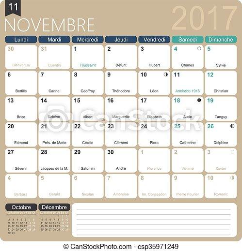 Calendario Frances.Calendario 2017 Frances