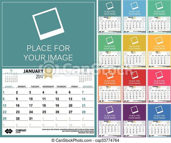 Calendario inglés 2017 - csp33774764