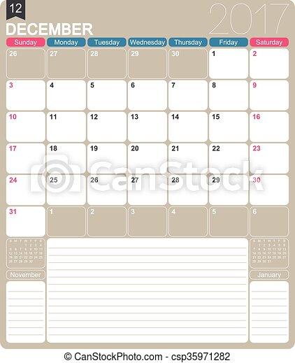 Calendario inglés 2017 - csp35971282