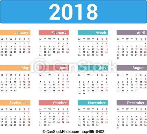 Calendario De Semanas.Top 10 Punto Medio Noticias Calendario 2018 Por Semanas Mexico