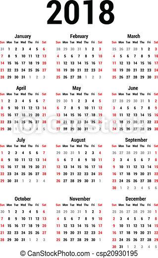 Calendario 2018 - csp20930195
