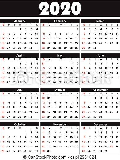 Calendario 2020 Settimanale Da Stampare.Calendario 2020