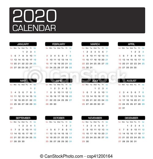 Anno Calendario 2020.Calendario 2020 Sagoma Anno
