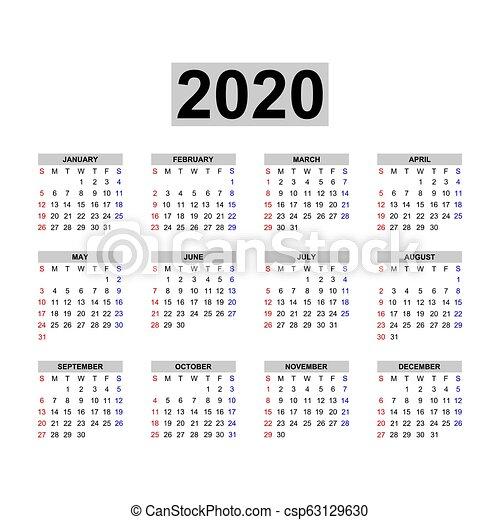 Settimane Calendario 2020.Calendario 2020