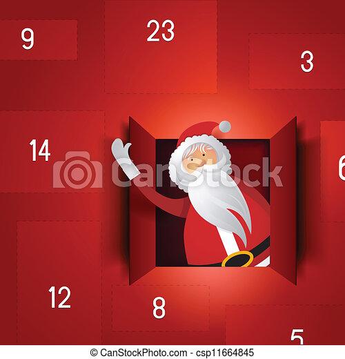 calendario, advenimiento, santa - csp11664845