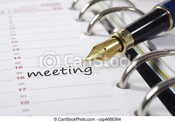 calendario, affari - csp4686364