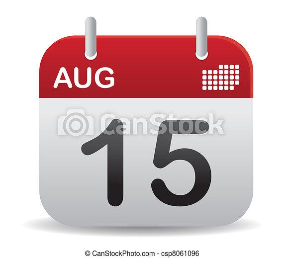 calendario, alzati, agosto - csp8061096