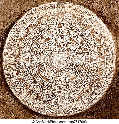 Calendario Antico.Calendario Antico Isolato Azteco