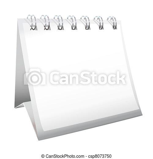 Calendario en blanco - csp8073750