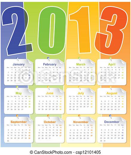 Red de calendario 2013 - csp12101405