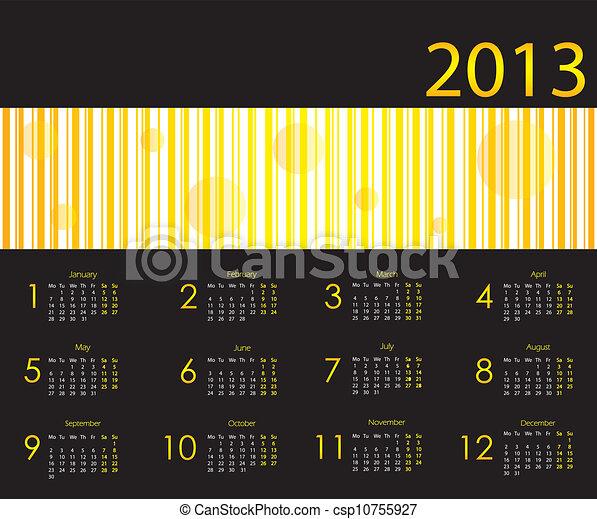 Calendario 2013 con diseño especial - csp10755927
