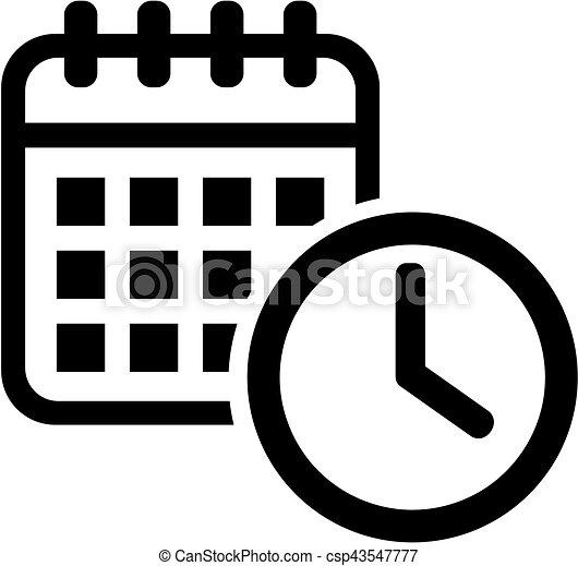Calendario Icona.Calendario Icona Clock Meeting