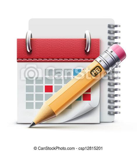 calendario, icona - csp12815201