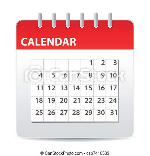 calendario, icona - csp7410533