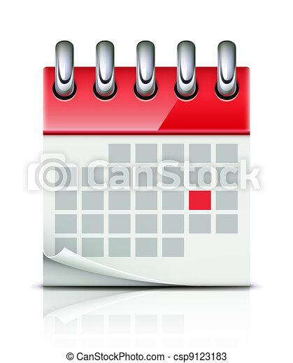 Un icono de calendario - csp9123183