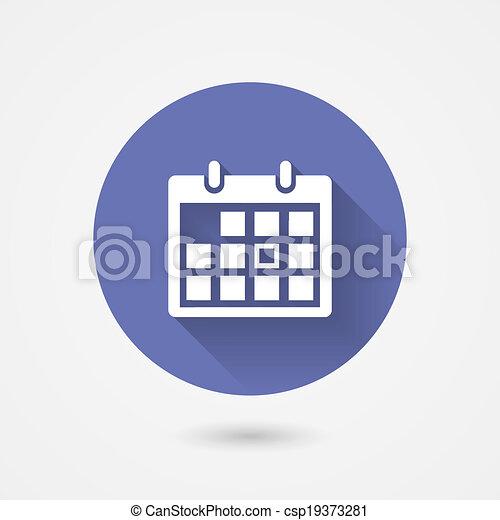 El icono del calendario - csp19373281