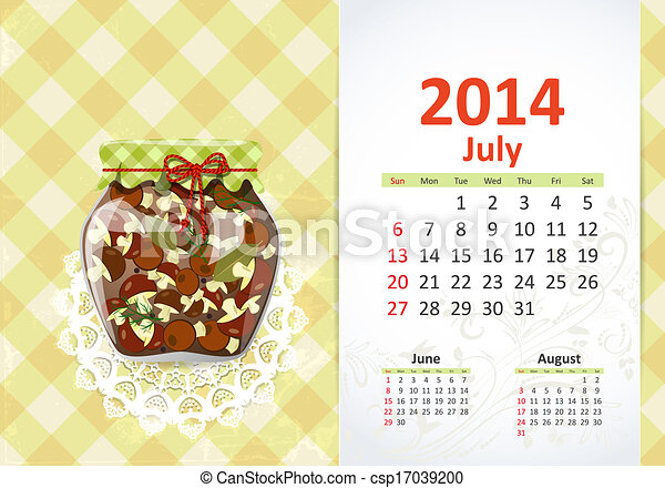 Calendario para 2014, julio - csp17039200
