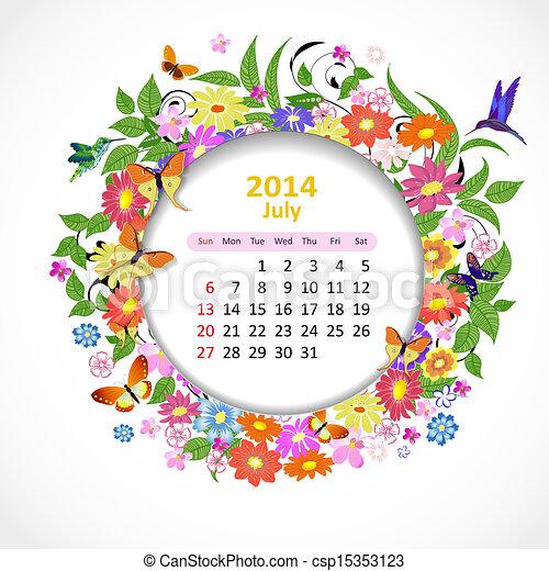 Calendario para 2014, julio - csp15353123