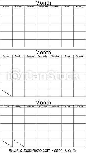 Planta calendario en blanco - csp4162773