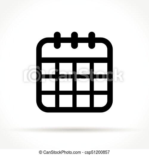 Calendario Icona.Calendario Sfondo Bianco Icona