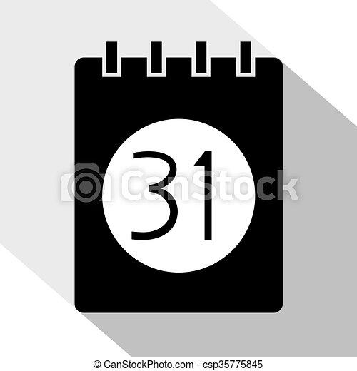 Simbolo De Calendario.Calendario Simbolo