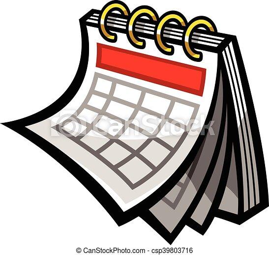 Calendario vector horario icono clip art vectorial for Clipart calendario