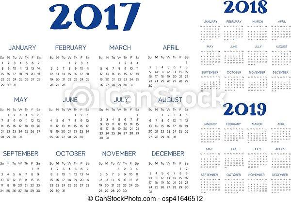 Vector de calendario inglés - csp41646512