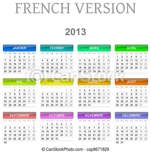 Calendario Frances.Calendario Version 2013 Frances